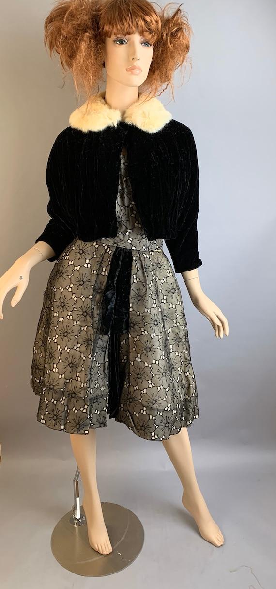 Vintage 50S Halter Dress// Strapless 50S Dress// … - image 1