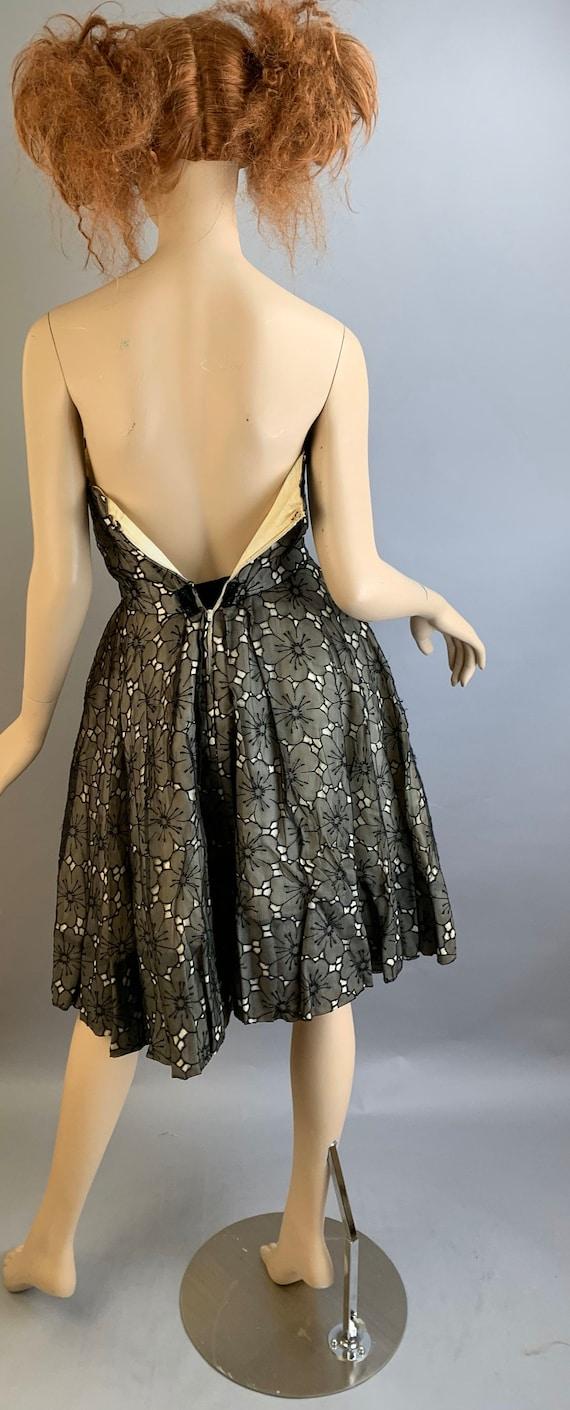 Vintage 50S Halter Dress// Strapless 50S Dress// … - image 7