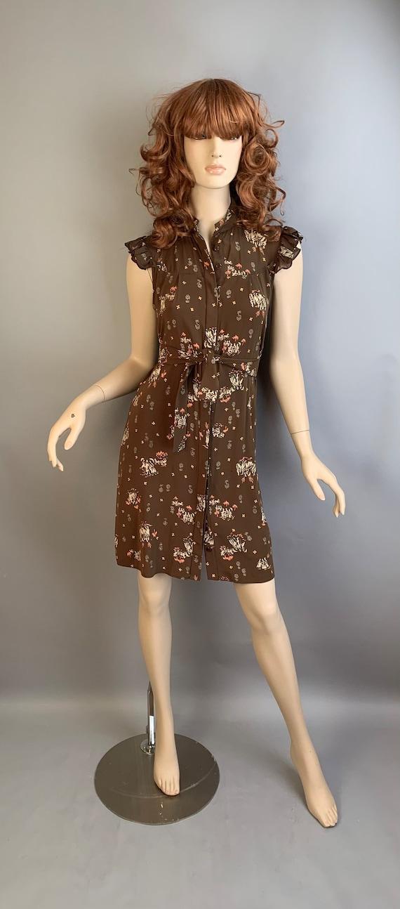 90s Silk Dress// Vintage 90s Dress// Vintage Print
