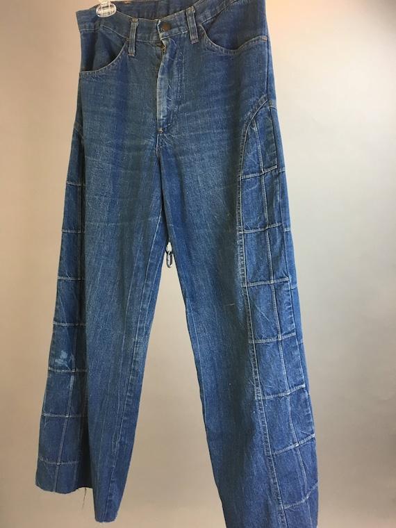 Vintage wide leg bell bottom pants// 70s bell bott