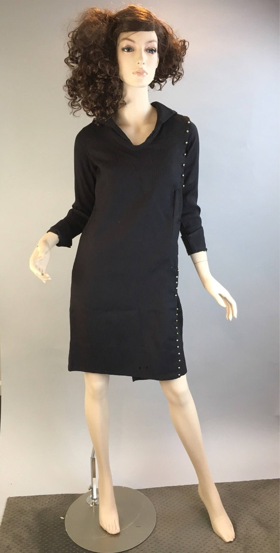 Depression Era Wool Dress// Vintage 20s Handmade D
