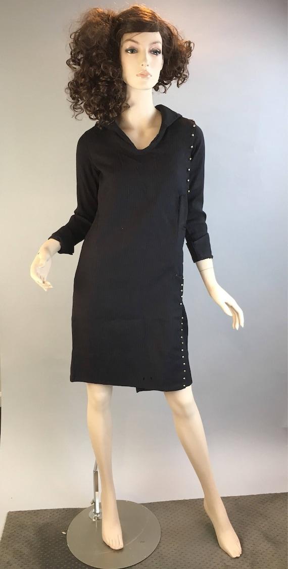 Depression Era Wool Dress// Vintage 20s Handmade D