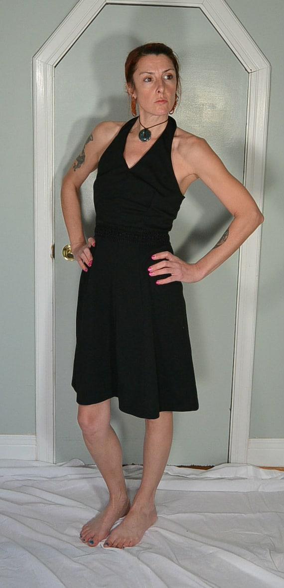 60s Halter dress// Vintage Polyester Dress// Vinta