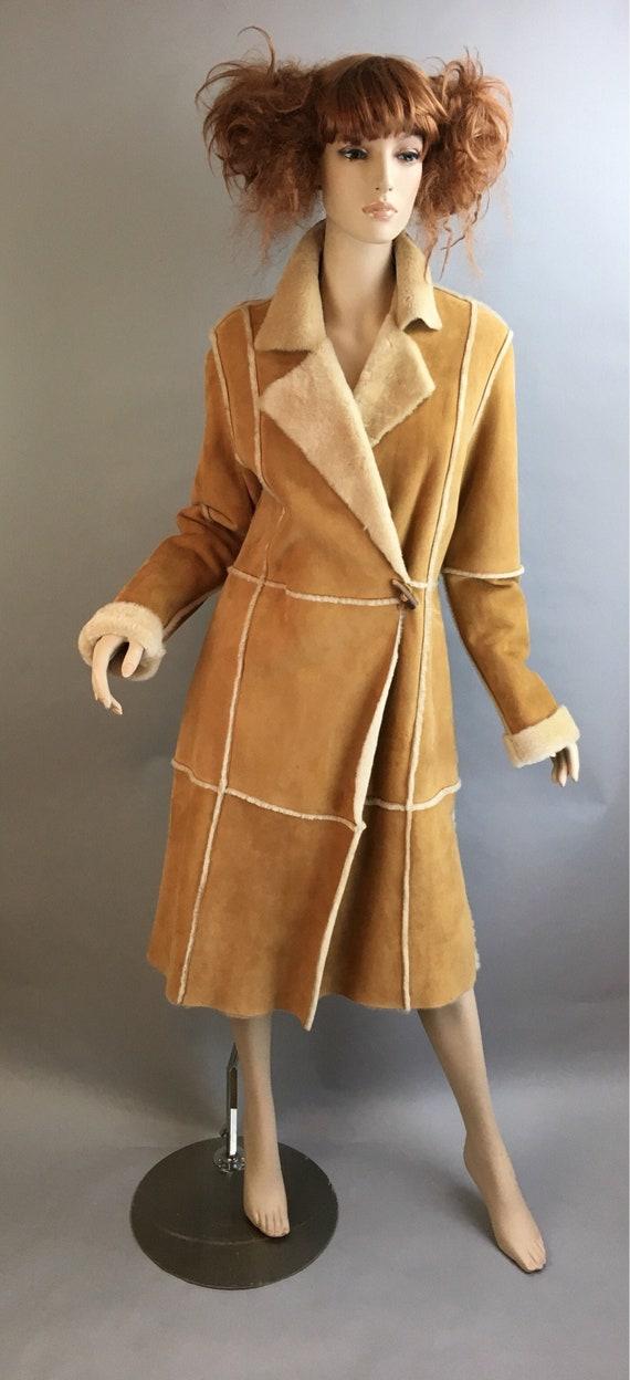 Anne Klein Shearling Coat// Long Vintage Shearling