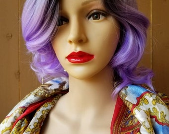 Brand new Ombre Purple Wig with adjustable Straps - Ready to Ship