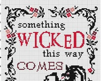 Something Wicked this way comes - Shakespeare Quote Harry Potter Halloween Subversive Cross Stitch Pattern - Instant Download