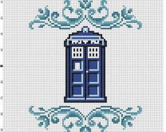 The Tardis - Cross Stitch Pattern - Instant Download