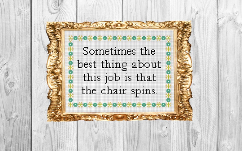 Sometimes the best thing about this job is that the chair image 1