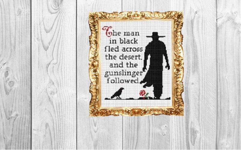 The Man In Black And The Gunslinger Stephen King The Dark Etsy