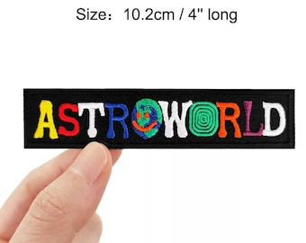 Iron on Patch Large Astroworld Smile Embroidered Hip Hop Rap