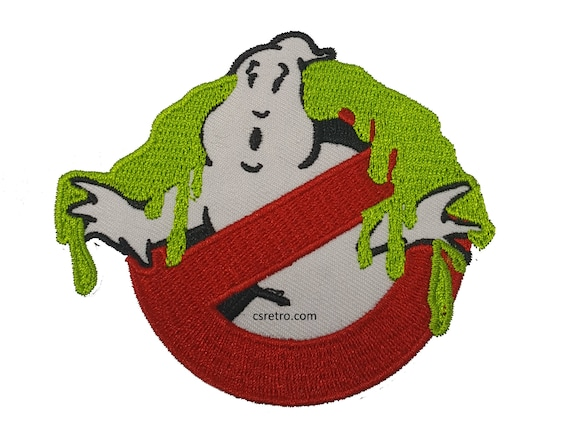 "Ghostbusters Movie Logo No Ghost Embroidered Iron-On Patch 4/"" x 3 3//8/"" New!"