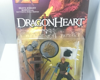 1995 DragonHeart Brave Knight Bowen With Battering Bola Tripod Action Figure Kenner