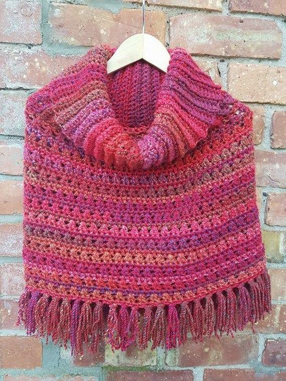 Simple Crochet Poncho pattern, Easy crochet poncho top