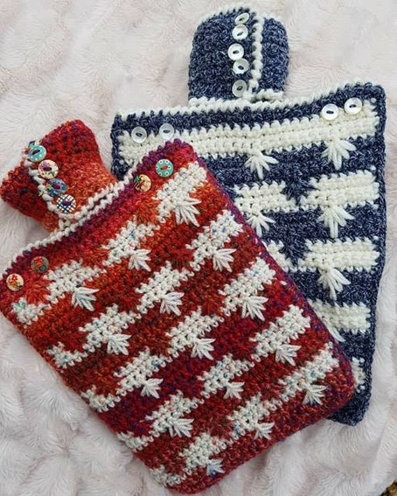 Snowflakes Hot Water Bottle Cover Crochet Pattern Etsy