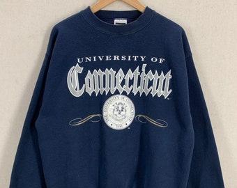 416609252d5 Vintage University of Connecticut UCONN Huskies Soft 50 50 Crewneck  Sweatshirt Sz L