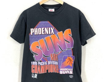 Vintage N B A  90s phoenix suns embroidery collar  classic 90s look  size L single stitch