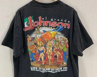 Slam It Sexual Humor Funny T-Shirt XL Vintage 90/'s Big Johnson Tequila Lick It Suck It