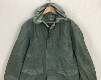 090ed4ed49c2a Vintage 50's USAF Air Force Sage Green Cotton Sateen Field Jacket Sz Large