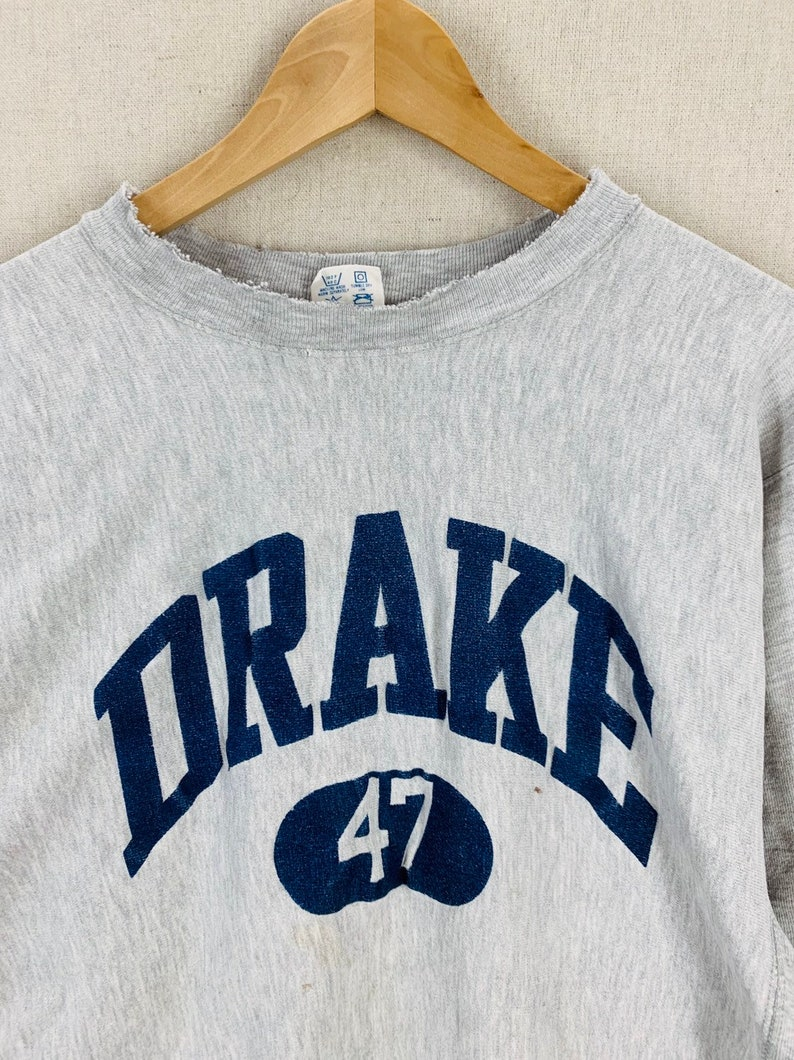 ebe72e59 Vintage 80's Drake University Champion Heather Gray | Etsy