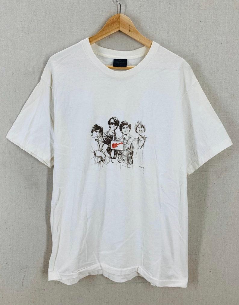 Vintage 80/'s The Monkees Rock Band Art T-Shirt Medium