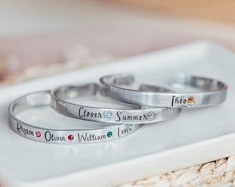 Birthstone Bracelet, Mother's Day Gift For Mom, Name Bracelet, Birthstone Jewelry