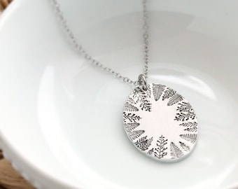 Forest Necklace, Hand Stamped Necklace, Forest, Best Friend Gifts, Christmas Gift
