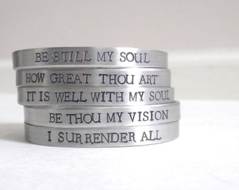 Religious Bracelet - Faith Jewelry - Silver Bracelet - Bible Verse Jewelry - Christian Gifts - Faith Gifts - Scripture