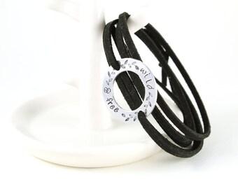 Wild And Free - Wrap Bracelet - Inspirational Bracelet - Bible Verse Bracelet - Bible Verse Jewelry - Personalized Bracelet - Boho Jewelry