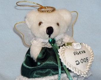 Birthstone Angel Ornament/Birthstone Angel/Birthstone Ornament/Angel Ornament/Keepsake Ornament/Keepsake Angel/Teddy Bear Ornament/Christmas