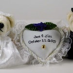 Custom Wedding Bears, Teddy Bear Bride and Groom Wedding Gift Idea, Personalized Gift for Newlywed Couple