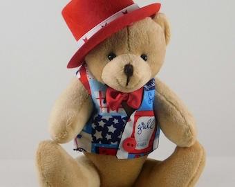 Teddy Boozedvelt Patriotic USA Fireworks Independence Day President July 4th Design T-shirt Mug Sublimation Transfer Ready to Press