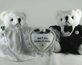 27dcaa2375f Personalized Wedding Gift with Teddy Bears