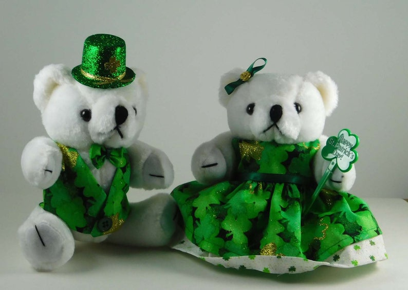St Patricks Day Décor Irish Home Décor Dressed Bears in image 0
