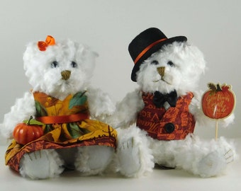 Fall Mantle or Table Décor, Thanksgiving and Harvest Decorations for Your Home,  Autumn Harvest Décor or Gift, Bear Gifts
