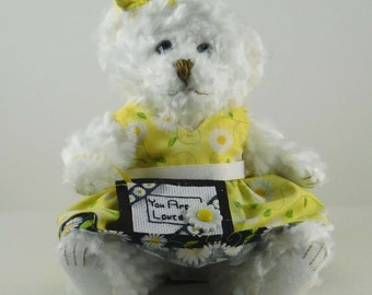 Daisy Gifts for Women, Decorations for the home, Daisy Gift for Mom or a Friend, You Are Loved Teddy Bear Gift