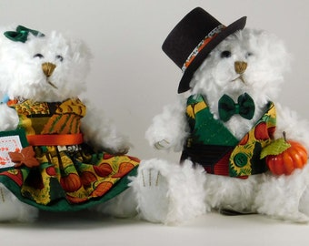 Harvest Decorations for Your Home, Thanksgiving and Fall Mantle or Table Décor, Autumn Harvest Décor or Gift, Bear Gifts