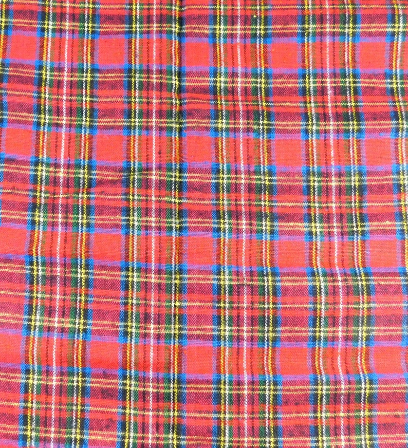 Red and Green Plaid Flannel Christmas Fabric Cotton Flannel image 0