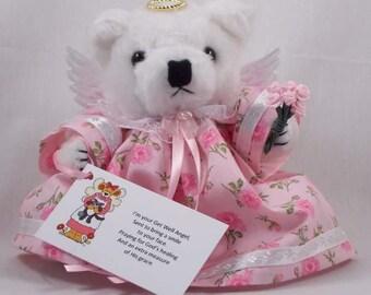 Get Well Soon Gift/Get Well Soon/Teddy Bear Angel/Get Well Angel/Get Well Gift/Get Well Gift Surgery/Get Well Gift Idea/Get Well Gift Woman