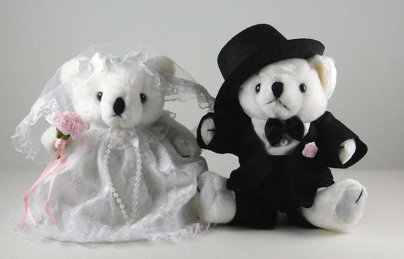 Wedding Bears Teddy Bear Bride and Groom Wedding Gift with image 0