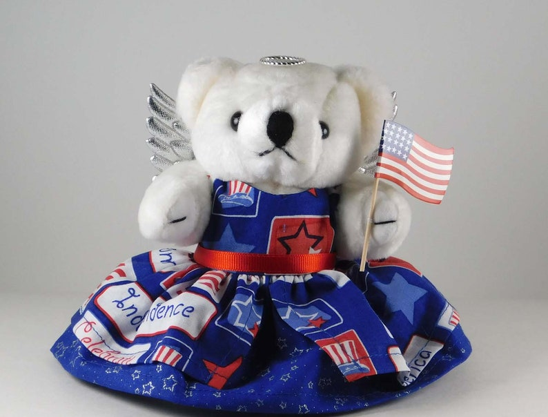 Patriotic Decoration and Home Décor Patriotic Teddy Bear image 0