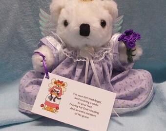 Get Well Soon Gift/Get Well Gift/Get Well Soon/Teddy Bear Angel Gift/Get Well Gift Surgery/Get Well Gift Hospital/Get Well Gift Woman/