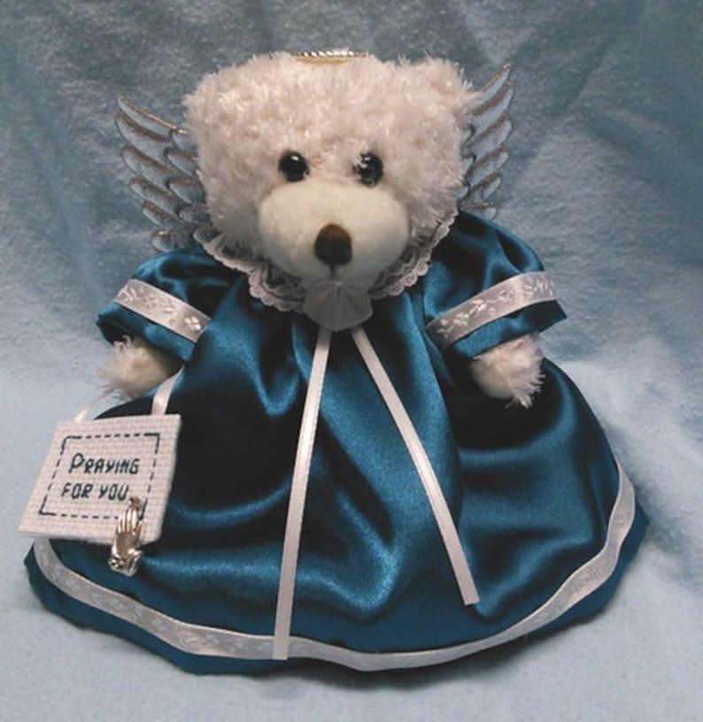 Ovarian Cancer Awareness Gift Teddy Bear Angel Gift to image 0