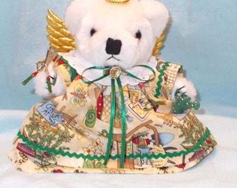 Gardening Angel/Garden Angel/Gardening Angel Gift/Gift for Gardeners/Gardeners Gift/Gardening Theme/Angel Gift/Angel Bear/Teddy Bear Angel