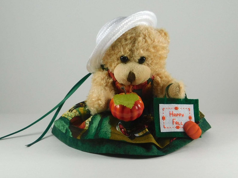 Fall Decorations for Home Fall Décor for Mantel or Table Bear with CS Sign