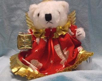 Christmas Angel Bear/Christmas Decor/Christmas Decoration/Holiday Decoration/Angel for Christmas/Teddy Bear Angel/Angel for Decor