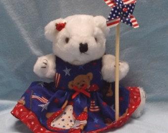 Patriotic Decoration/July 4th Decoration/Patriotic Teddy/Teddy Bear Print/Patriotic Gifts/Patriotic Home Decor/Patriotic Decor/Teddy Bear