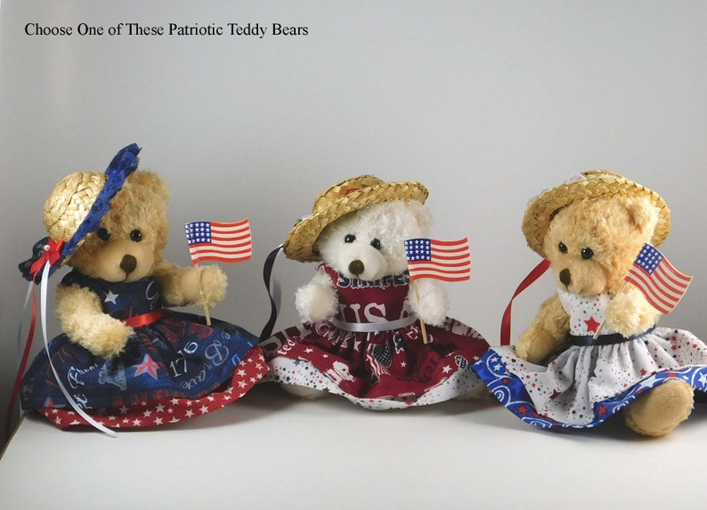 4th of July Decorations in Americana Décor Patriotic Teddy image 0