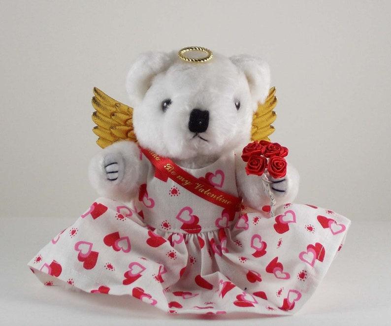 Valentines Day Gift Angel Bear Plush White Teddy Bear Gift image 0