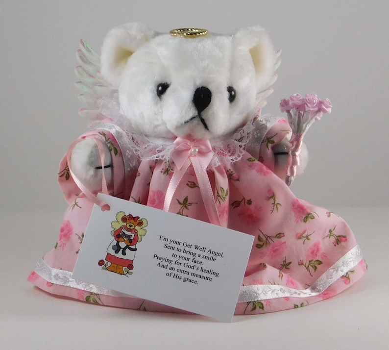Get Well Soon Gift Teddy Bear Angel as Get Well Gift Get image 0