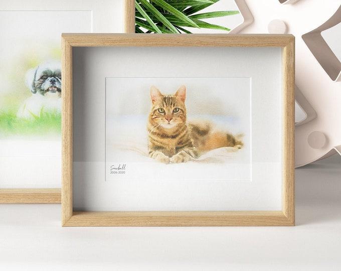 Custom Pet Watercolor Art Print | Dog Cat Illustration | Art Print